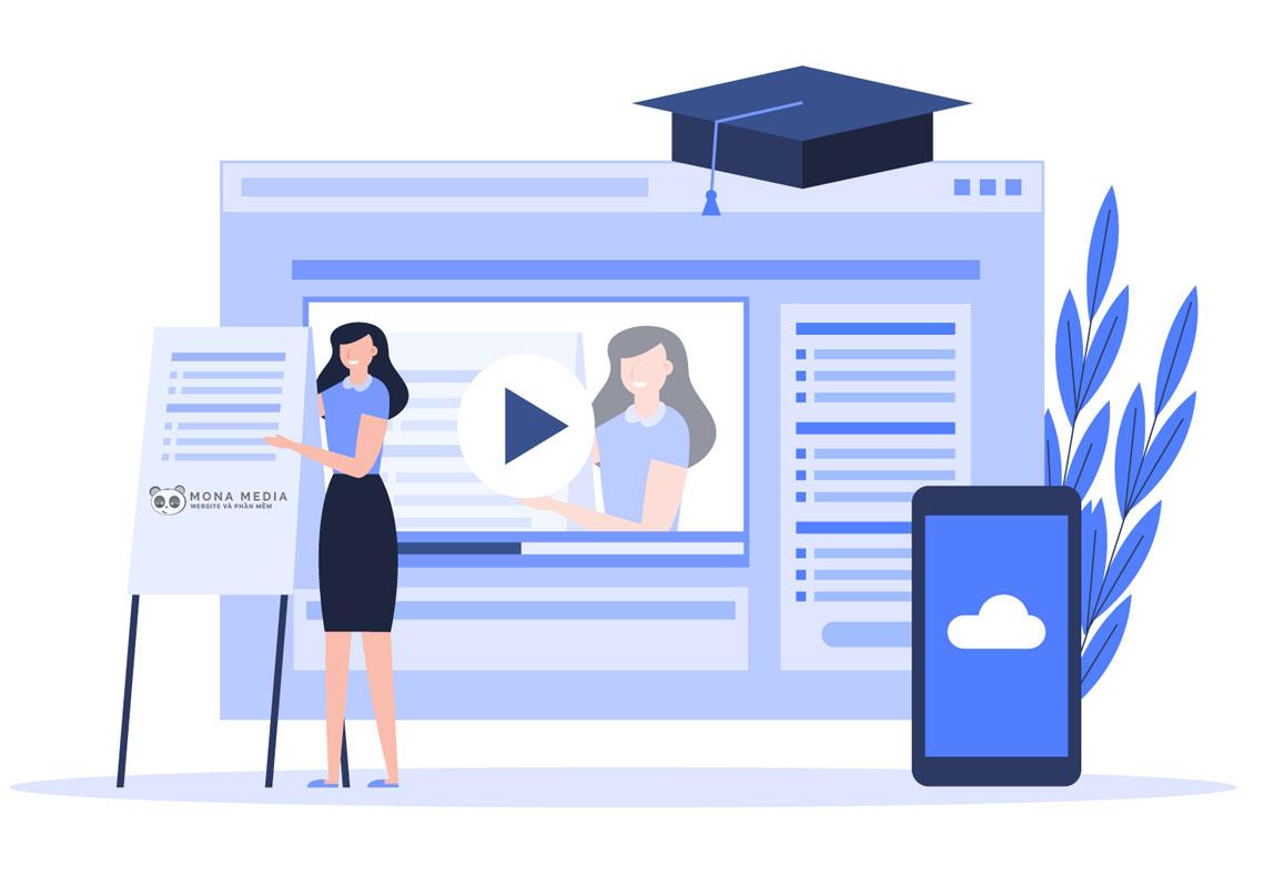 kinh doanh khóa học online.