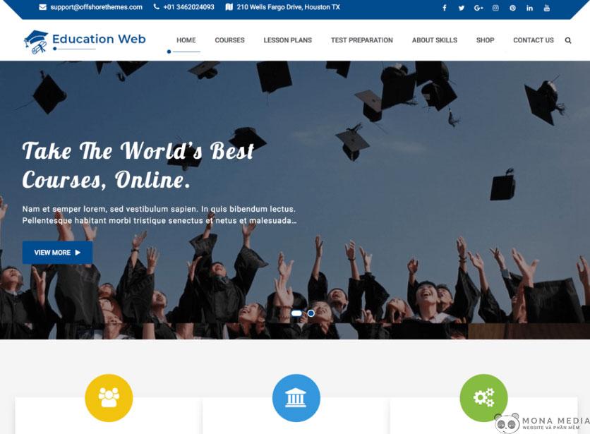 Tính năng của website trường học.