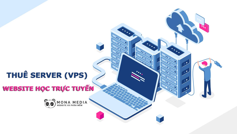 Thuê server cho website học trực tuyến