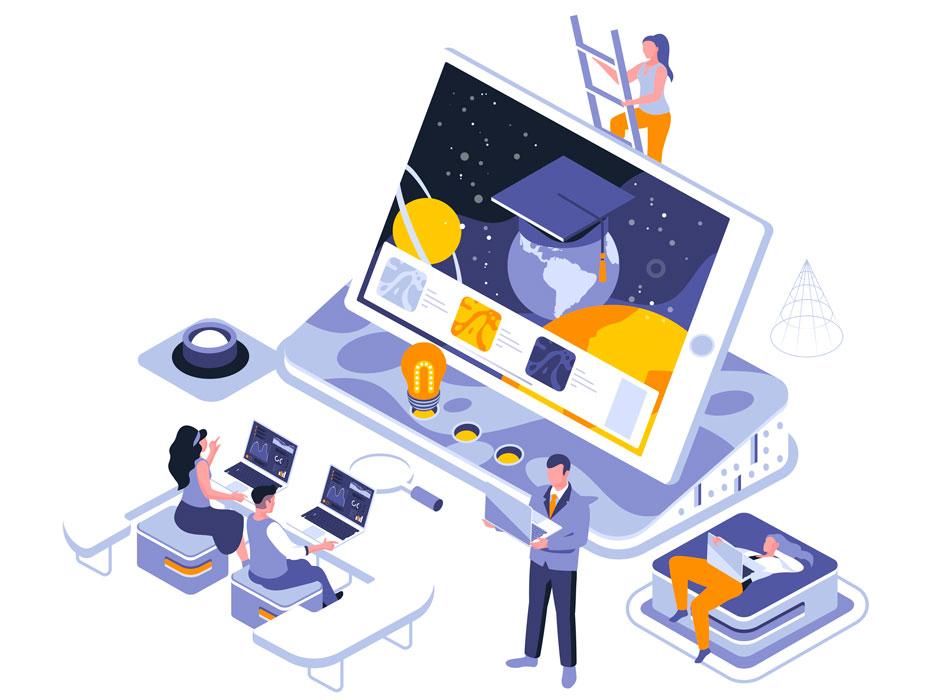 chuẩn bị thiết kế website học trực tuyến