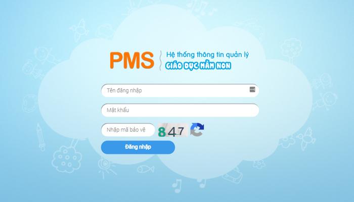 Phần mềm quản lý mầm non trực tuyến - PMS